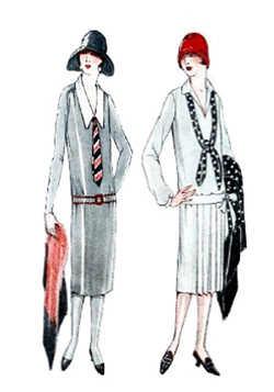 История моды : Огромные изменения в 20-ые годы претерпел внешний ...
